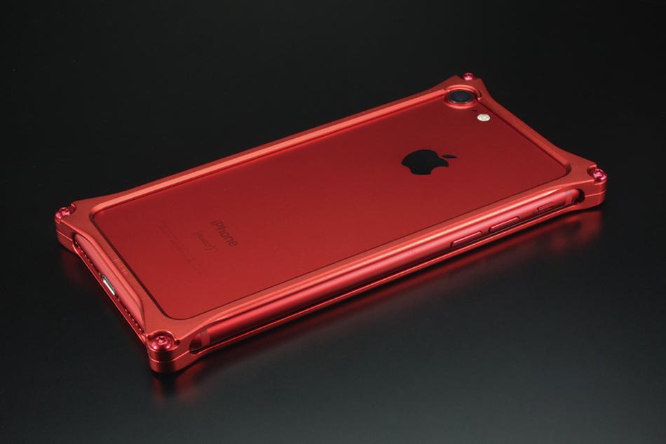 GILD design ギルドデザイン スマートフォンケース ソリッドバンパー for iPhone8/7 カラー:マットレッド iPhone8/7