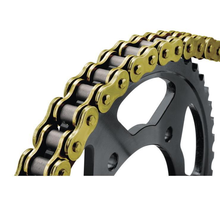 BikeMaster バイクマスター チェーン 520 BMOR Series Chain Color:Gold [197232]