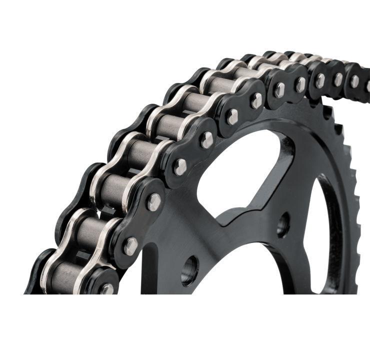 BikeMaster バイクマスター チェーン 525 BMOR Series Chain Color:Black/Chrome [197259]