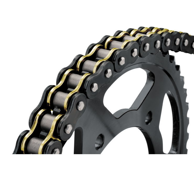 BikeMaster バイクマスター チェーン 525 BMZR Series Chain Color:Black/Gold [197413]