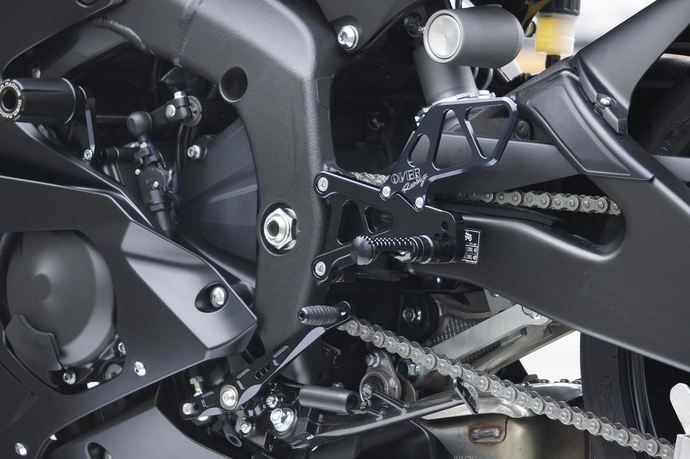 OVER オーヴァー バックステップ 6ポジション カラー:ブラックアルマイト仕上げ YZF-R6(17-)