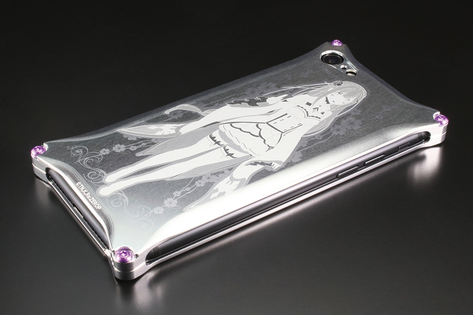 GILD design ギルドデザイン スマートフォンケース Re ゼロから始める異世界生活 スマホジャケット タイプ:エミリア(シルバー)
