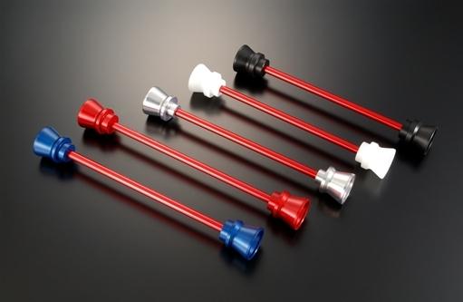 AGRAS アグラス ガード・スライダー フロントアクスルプロテクター ファンネルタイプ タイプ:アルミ/シルバー YZF-R6