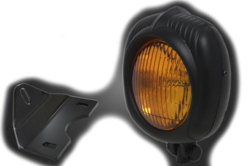 ガレージT&F ヘッドライト本体・ライトリム/ケース エレクトロライン54レプリカヘッドライト&ライトステーキット 本体仕上げ:ブラック/レンズカラー:イエロー エストレヤ、エストレヤRS、エストレヤカスタム、エストレヤRSカスタム