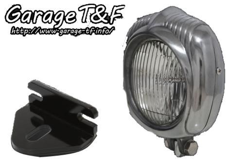 ガレージT&F ヘッドライト本体・ライトリム/ケース エレクトロライン54レプリカヘッドライト&ライトステーキット 本体仕上げ:ポリッシュ/レンズカラー:クリアー W650