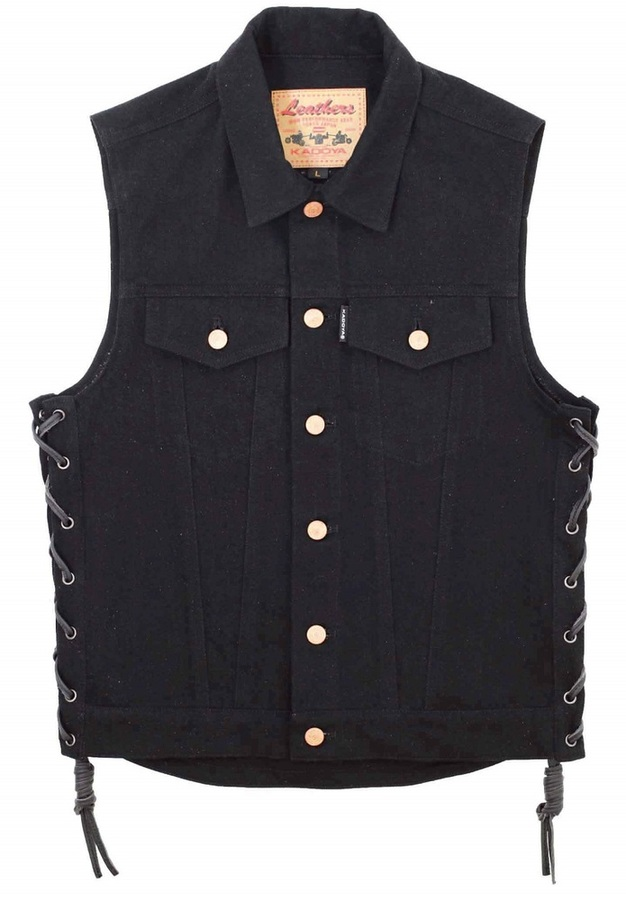 KADOYA カドヤ 【サイズ:L】 BIKER DENIM VEST 3 [K'S PRODUCT] ベスト