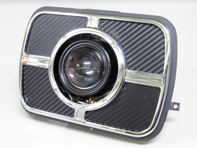 PROTEC プロテック ヘッドライト本体・ライトリム/ケース LEDプロジェクターライト 色温度:5000k GPZ900R ZRX1100 ZRX1200 ZRX400