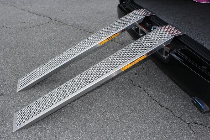 ミニモト アルミ製スロープ・ブリッジ ストレートタイプ 【在庫あり】MINIMOTO トランポ用品