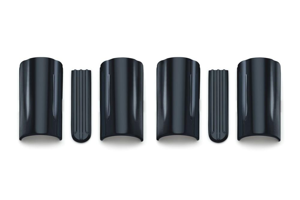 Kuryakyn クリアキン その他フロントフォーク関係 Upper Fork Slider Covers [アッパーフォークカバー] カラー:ブラック ツーリングモデル、トライク(14-)