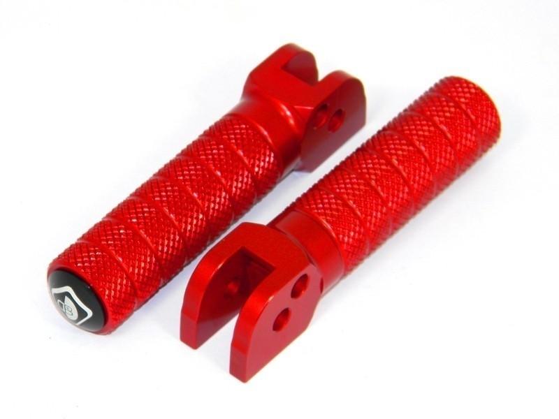 【イベント開催中!】 DUCABIKE ドゥカバイク フットペグ・ステップ・フロアボード アジャスタブルステップペグ スタンダードデザイン カラー:レッド HYPERMOTARD 939 SCRAMBLER DESERT SLED