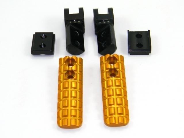 【イベント開催中!】 DUCABIKE ドゥカバイク フットペグ・ステップ・フロアボード アジャスタブルステップペグ ブロックデザイン カラー:ゴールド HYPERMOTARD 939 / SCRAMBLER DESERT SLED
