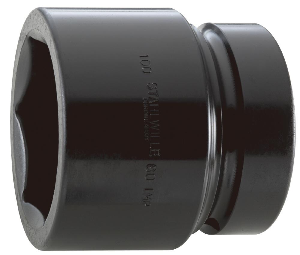 STAHLWILLE スタビレー インパクトレンチ用ソケット類 (2.1/2インチSQ) インパクトソケット サイズ (mm):80