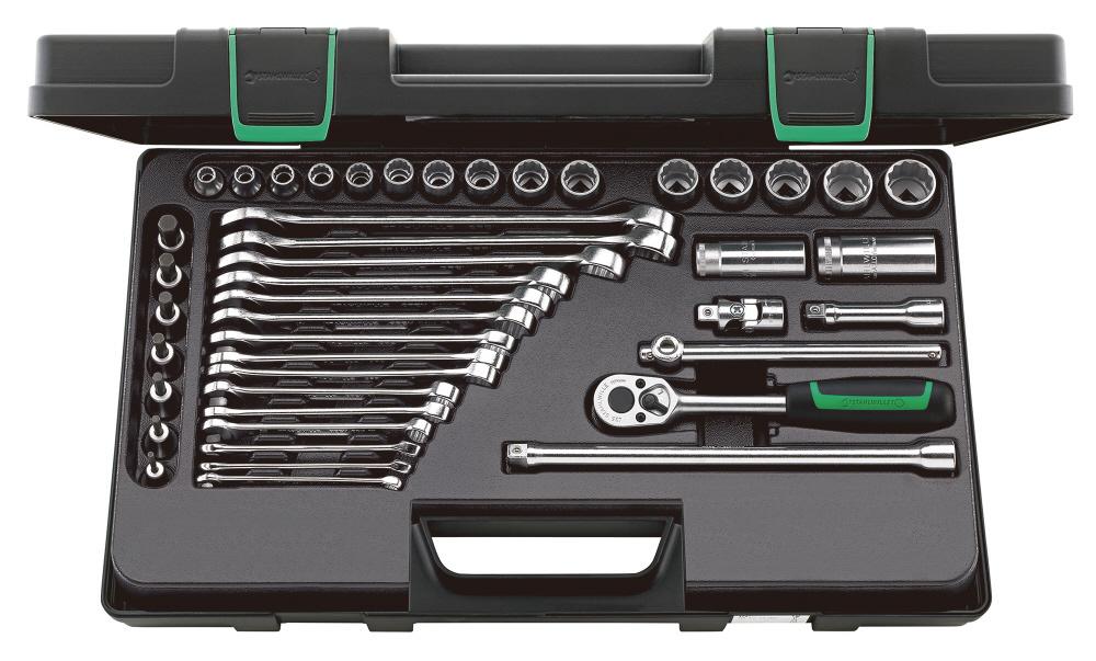 STAHLWILLE スタビレー セット工具 (3/8SQ) ソケットレンチ&スパナセット (96023128)