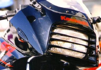 PLEASURE プレジャー その他外装関連パーツ ヘッドライトルーバー カラー:ブルーメタ GPZ900R
