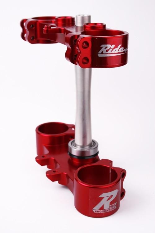 Ride Engineering ライドエンジニアリング トップブリッジ トリプルクランプキット 22mmオフセット カラー:レッド RMZ450 (13-18)、RMZ250 (16-18)
