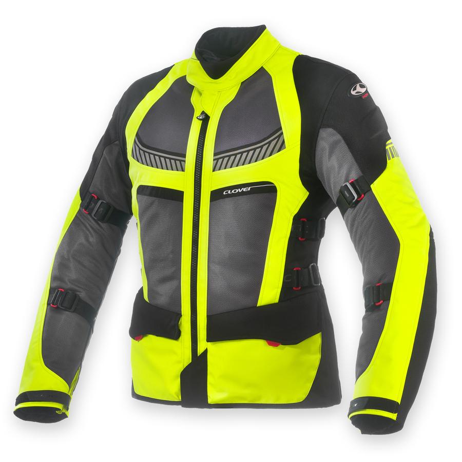 CLOVER MOTORCYCLE GEAR クローバー モーターサイクルギア 3シーズンジャケット VENTOURING-2 AIRBAG TEXTILE JACKETS レディース サイズ:M