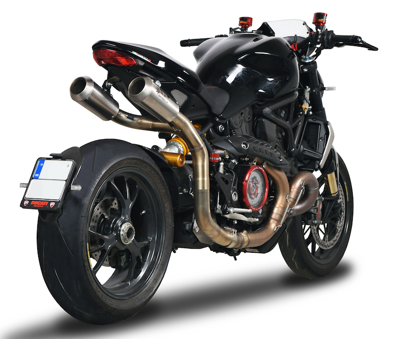 SPARK EXHAUST スパーク マフラー スリップオンサイレンサー マウンティング 左右 - 限定版【slip-on HIGH mounting LEFT/RIGHT - limited edition】 Monster 1200 R (16-18)