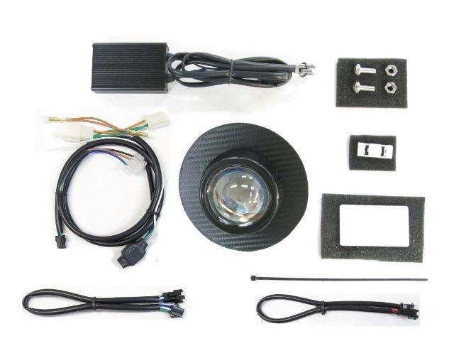 PROTEC プロテック ヘッドライト本体・ライトリム/ケース LEDプロジェクターヘッドライトキット 3000k パネルカラー:ブラックカーボン スーパーカブ110