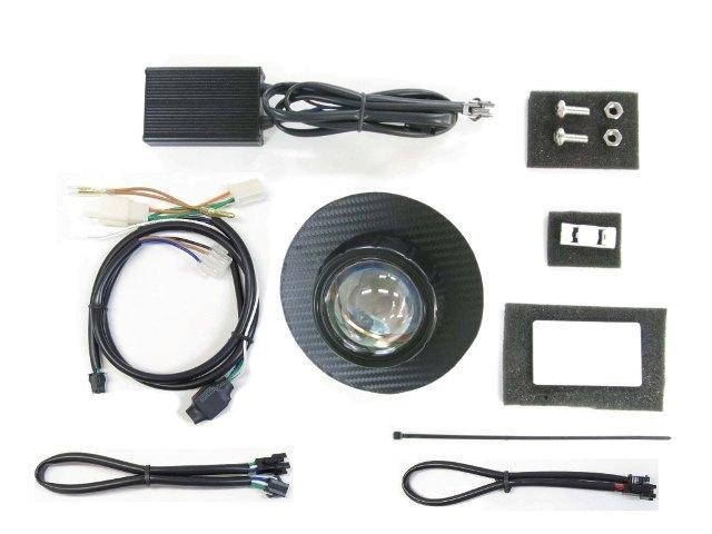 PROTEC プロテック ヘッドライト本体・ライトリム/ケース LEDプロジェクターヘッドライトキット 6000k パネルカラー:ブラックカーボン スーパーカブ110
