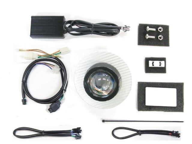 PROTEC プロテック ヘッドライト本体・ライトリム/ケース LEDプロジェクターヘッドライトキット 6000k パネルカラー:シルバーカーボン スーパーカブ110