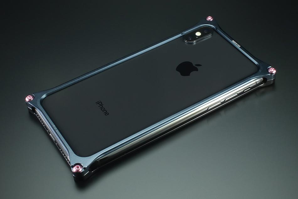 GILD design ギルドデザイン スマートフォンケース ソリッドバンパー for iPhoneX (EVANGELION Limited) カラー:ブラック・ネイビー(渚カヲル) iPhoneX