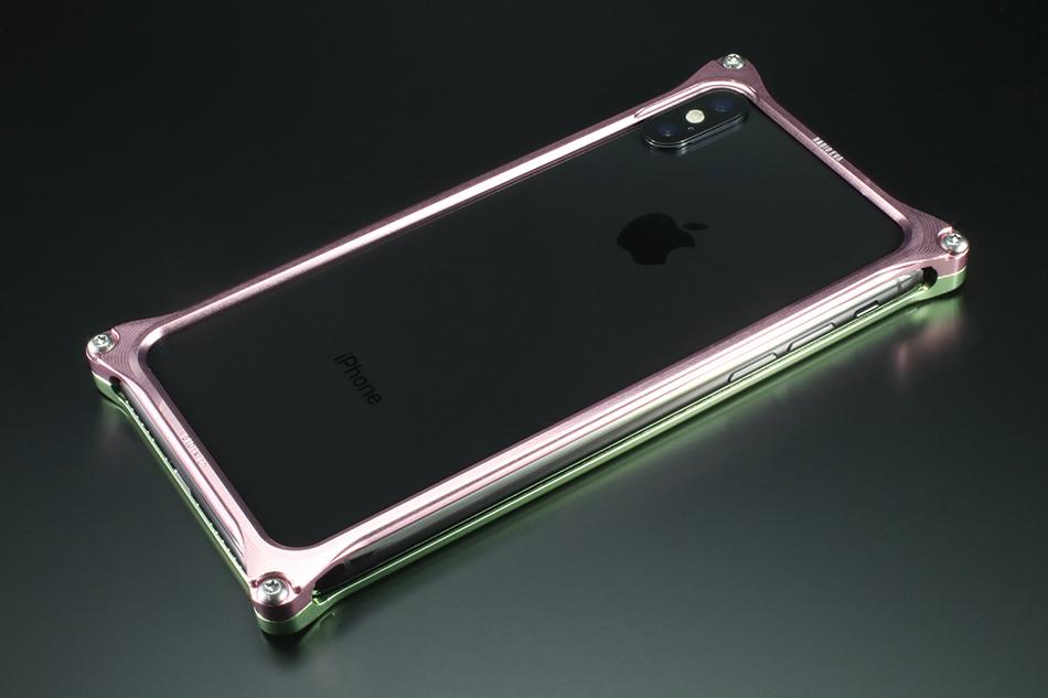 GILD design ギルドデザイン スマートフォンケース ソリッドバンパー for iPhoneX (EVANGELION Limited) カラー:ライトグリーン・ピンク(MARI MODEL) iPhoneX