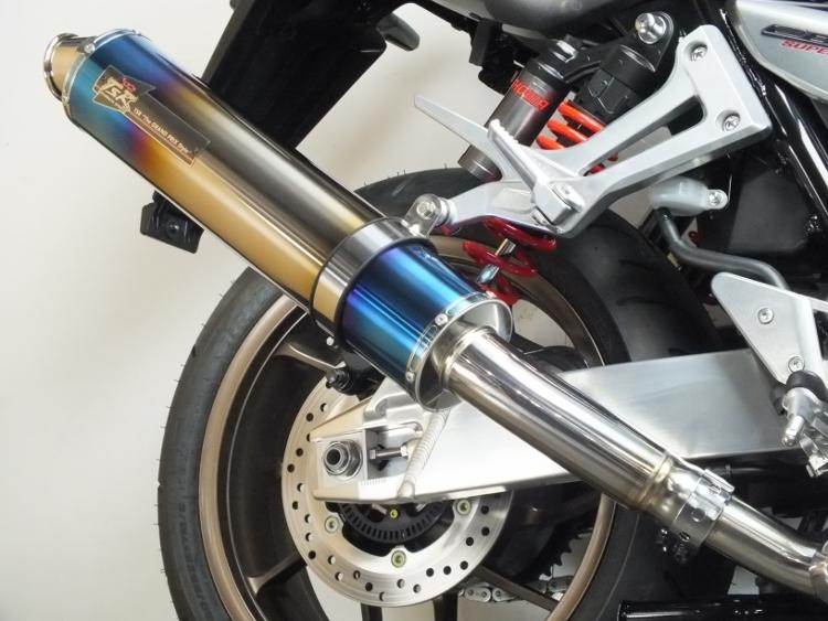 TSR テクニカルスポーツレーシング スリップオンマフラー スリップオン マフラー タイプ:チタン(焼き色) CB1300スーパーフォア CB1300スーパーボルドール