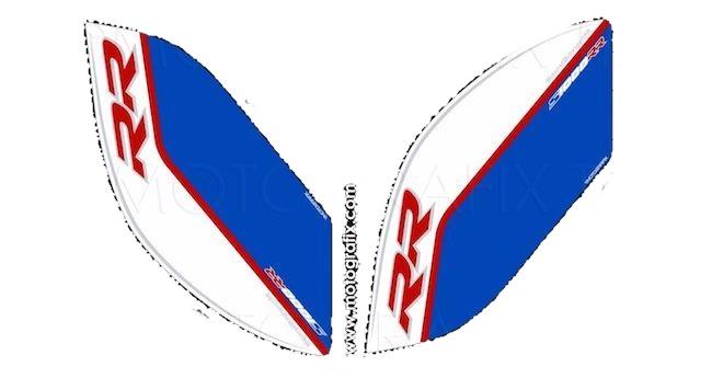 【ポイント5倍開催中!!】MOTOGRAFIX モトグラフィックス ステッカー・デカール ボディーパッド カラー:ホワイト/ブルー S1000RR 17-
