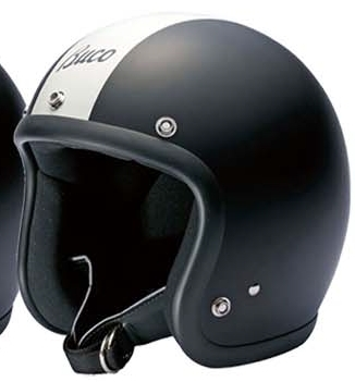 BUCO ジェットヘルメット ベビーブコ センターストライプ&ロゴ REGULAR LINE MAT SERIES [レギュラー ライン マットシリーズ] サイズ:ML(59-60cm)