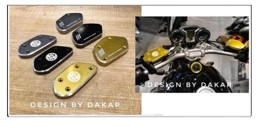 【ポイント5倍開催中!!】【クーポンが使える!】 DK design ディーケーデザイン タンクカバー CNC Front Tank Cover Color:Golden RnineT 2014-16