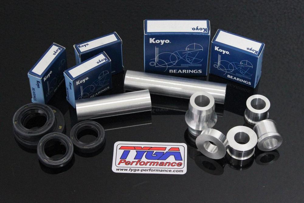 TYGA PERFORMANCE タイガパフォーマンス ホイール関連パーツ アルミ ホイールスペーサーベアリング/シールキット COLOR:Silver RC 125/200/250/390 2014-18