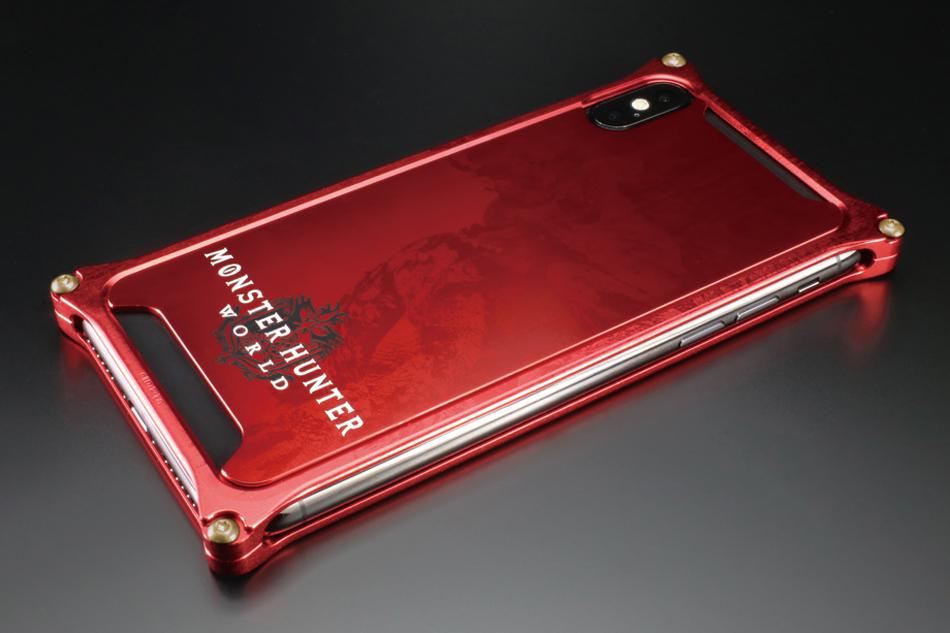 GILD design ギルドデザイン スマートフォンケース MONSTER HUNTER:WORLD Solidbumper for iPhoneX カラー:ネルギガンテ レッド iPhoneX