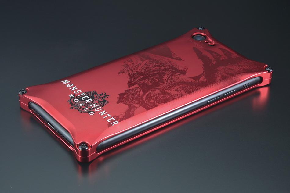 【ポイント5倍開催中!!】GILD design ギルドデザイン スマートフォンケース MONSTER HUNTER:WORLD Solid for iPhone8/7 [モンスターハンター] カラー:レッド