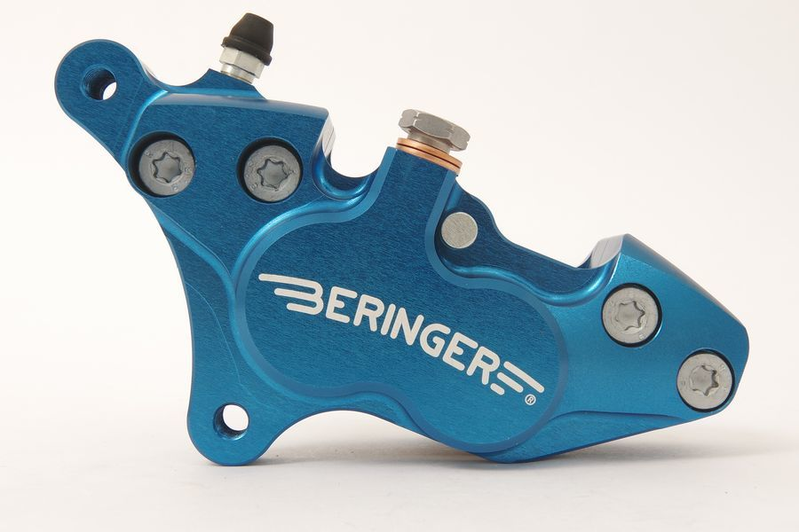 BERINGER ベルリンガー 4ピストンキャリパー カラー:ブルー RVF750 RC45 94-95 VFR750 R RC30 87