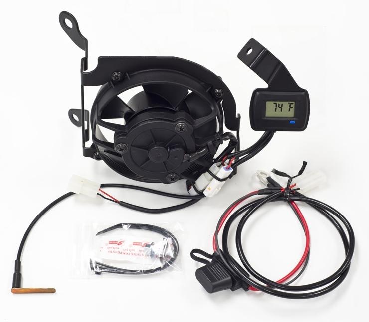 TrailTech トレイルテック ラジエーター関連部品 デジタルクーリング(冷却)ファンキット WR450F 2012-2015