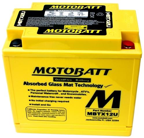 【在庫あり】モトバット MOTOBATTバッテリー MBTX12U