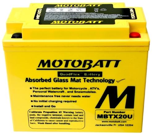 モトバット MOTOBATTバッテリー MBTX20U