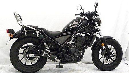 【イベント開催中!】 WirusWin ウイルズウィン スリップオンマフラー ビレットタイプ サイレンサー仕様:ブラックカーボン Rebel 250