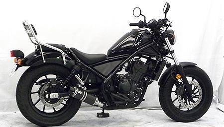 WirusWin ウイルズウィン スリップオンマフラー バレットタイプ サイレンサー仕様:ブラックカーボン Rebel 250