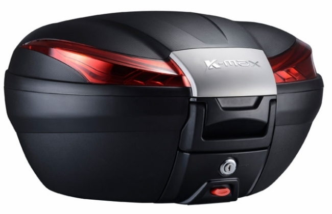 K-MAX ケーマックス トップケース・テールボックス K27 50L Rear Box(With Warning Lamp) Cover Color:Silver