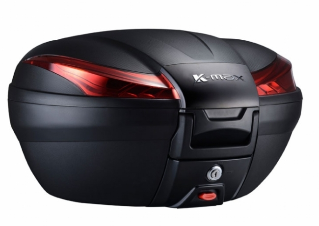 K-MAX ケーマックス トップケース・テールボックス K27 50L Rear Box(With Warning Lamp) Cover Color:Black