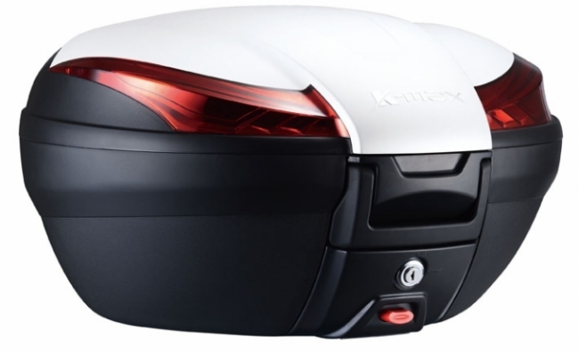 K-MAX ケーマックス トップケース・テールボックス K28 50L Rear Box(With Warning Lamp) Cover Color:White