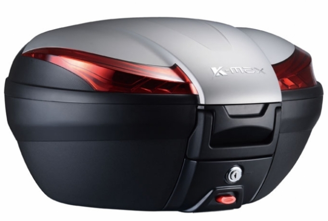 K-MAX ケーマックス トップケース・テールボックス K28 50L Rear Box(With Warning Lamp) Cover Color:Silver