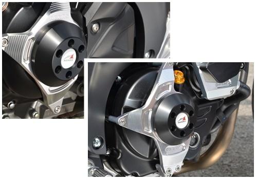【イベント開催中!】 AGRAS アグラス ガード・スライダー レーシングスライダー ジュラコンカラー:ホワイト SV650 16- SV650 ABS