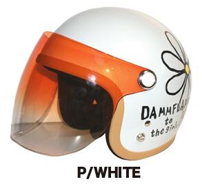 DAMMFLAPPER ダムフラッパー ジェットヘルメット フラワージェット カラー:マットブラック