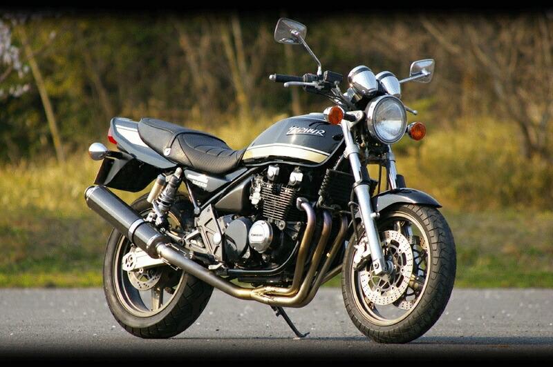 MotoGear モトギア フルエキゾーストマフラー プリズムフルエキゾーストシステムSTDタイプ サイレンサーレス ゼファーχ 全年式