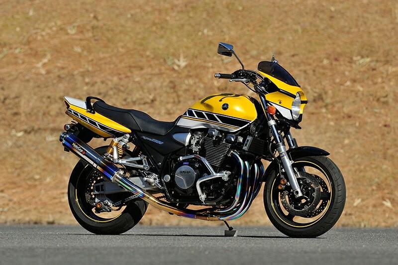 MotoGearモトギアフルエキゾーストマフラー手曲げフルエキゾーストシステムサイレンサーレスXJR130098-06