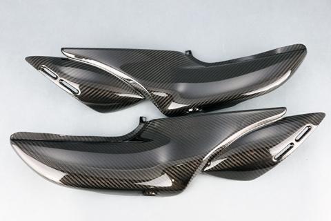 A-TECH エーテック Aテック サイドカバー 素材:綾織ドライカーボン(DC) Z900RS 18-