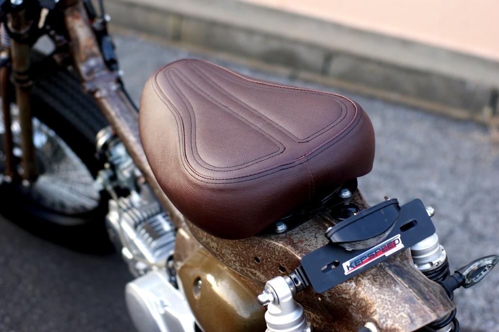 GM-MOTO ジーエムモト シート本体 カブ用 カスタムシート カラー:ブラウン スーパーカブ