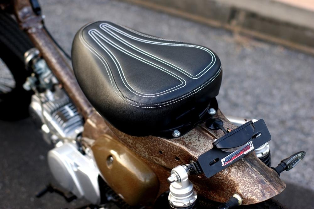 GM-MOTO ジーエムモト シート本体 カブ用 カスタムシート カラー:ブラック スーパーカブ